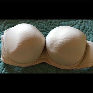 Cacique Beige Strapless Bra Size 42B